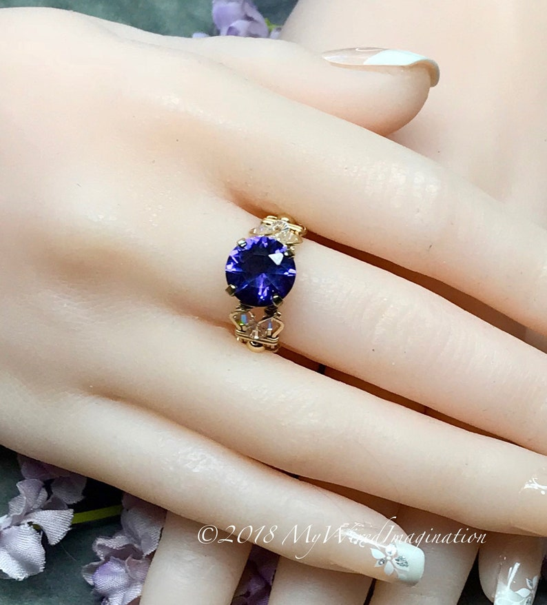 Alexandrite Lab Grown Color Change Gemstone Handmade Ring image 0