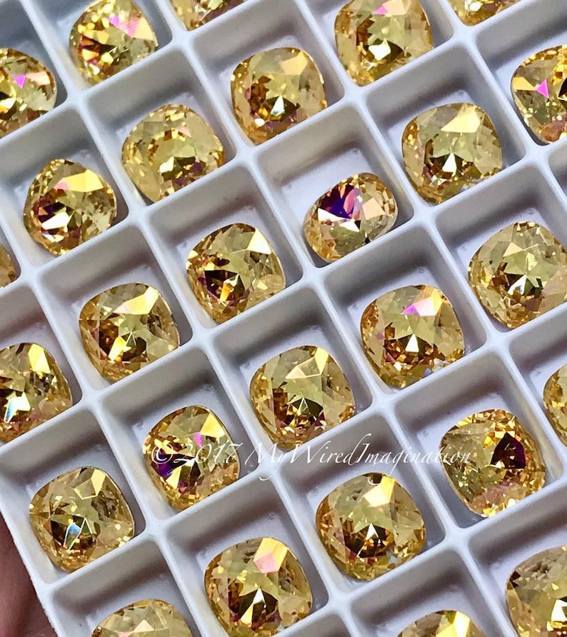 Crystal Amber Blush Genuine Swarovski Crystal 8mm Fancy image 0