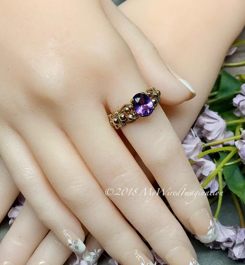 Alexandrite Color Change Handmade Ring Lab Alexandrite Ring image 0
