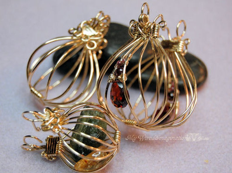Tutorial For Wire Wrap Pendants 2 Hinged Cages and a Locket image 0