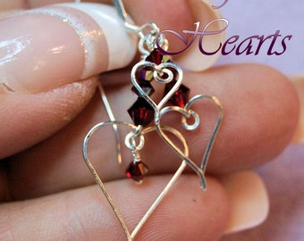 How to Wire Wrap Hearts, Wire Jewelry Tutorial, Charming Hearts 1, Charms, Earrings, Pendants , Instructions, PDF File, Learn to Wire Wrap