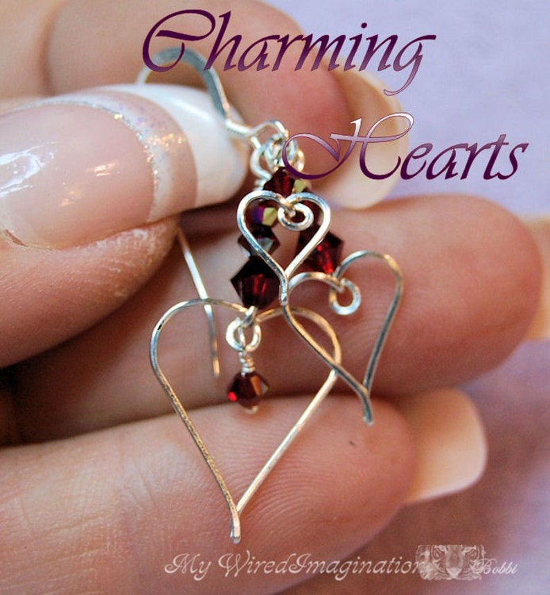 Wire Wrap Hearts Wire Jewelry Tutorial  Charms Earrings image 0