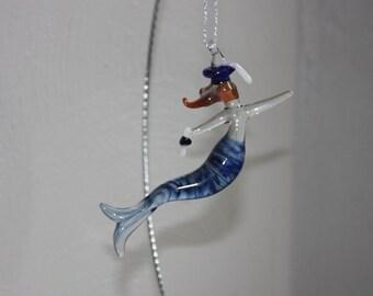 Graduate Glass mermaid ornament, graduation gift, gift idea