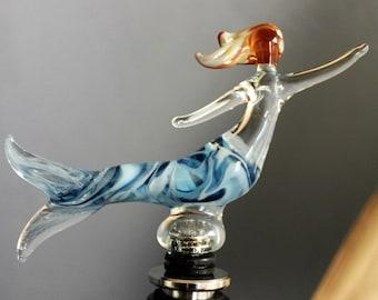 Blue Mermaid Wine Stopper, Wine gift, Birthday Gift, Glass wine stopper