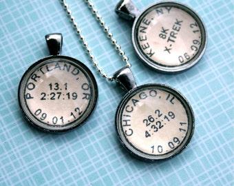Pendants etsy marathon necklace running jewelry running necklace custom necklace marathon jewelry marathon gift gift for runner half marathon aloadofball Images