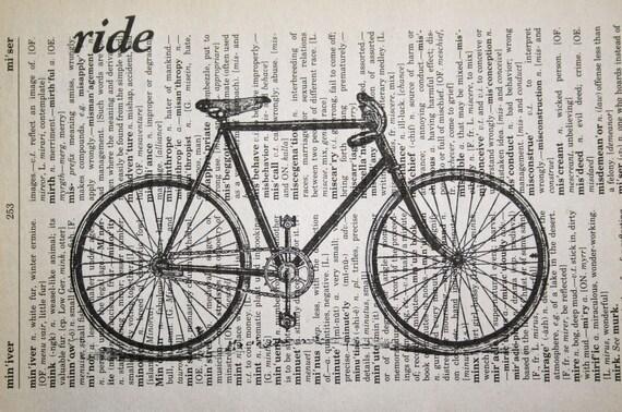 Items Similar To Bicycle Print