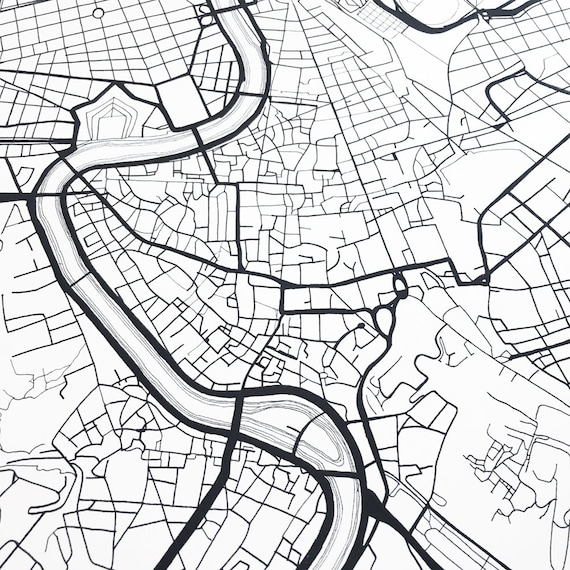 rome map street map italy city map drawing black and white etsy 28 Year Wedding Anniversary image