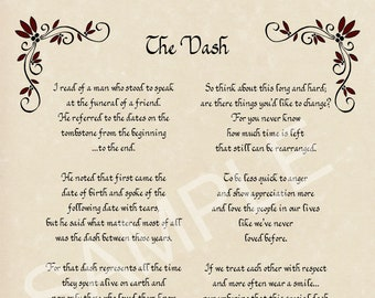 Dash Poem Etsy Resources > poems > life > i'm glad you're in my dash. dash poem etsy