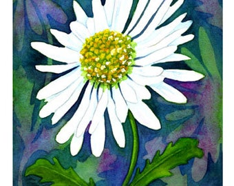 """Set of 10 Floral Greeting Cards """"Daisy"""""""