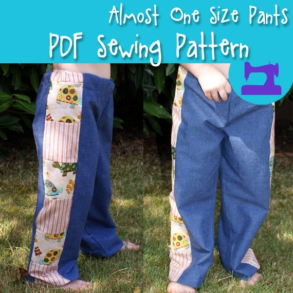 Pdf Sewing Pattern Almost One Size Truly Scrumptious Pant Etsy