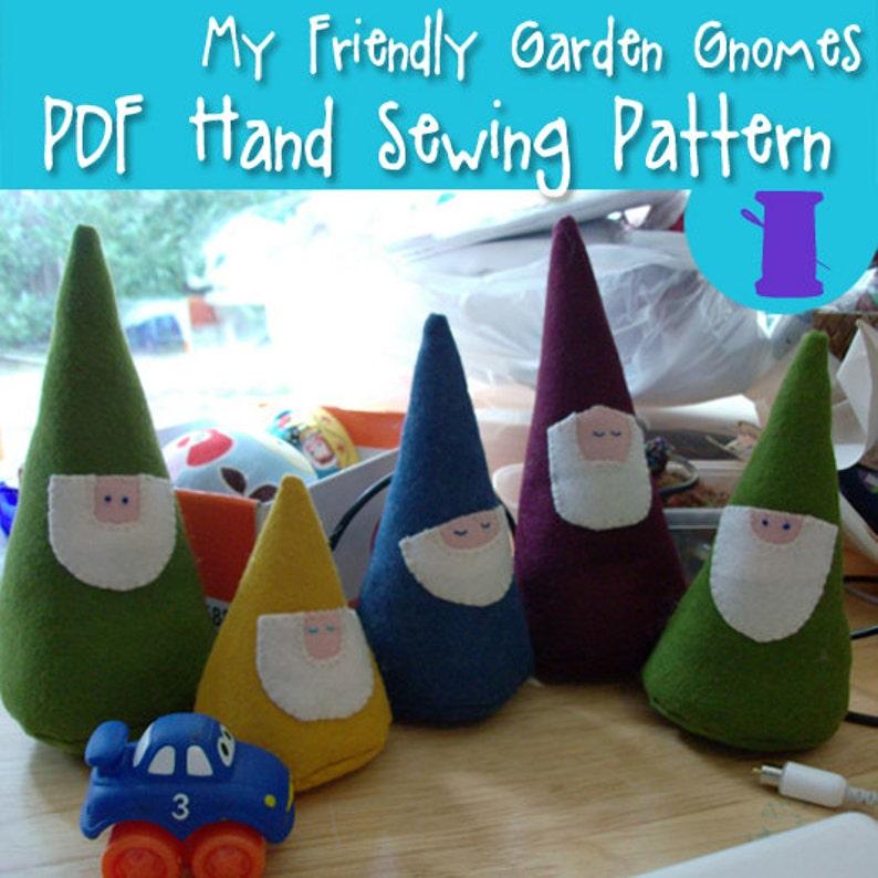 ee543e9f9ae PDF SEWING PATTERN Friendly Garden Gnomes waldorf woodland
