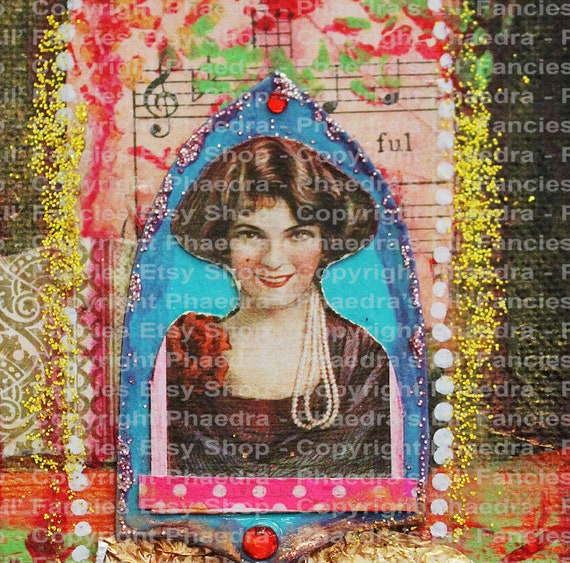 Red Vintage Lady Mixed Media A4 Background For Journal Craft Collage Etc Digital Hi Res Jpeg Instant Download Scrapbook Collage Ephemera