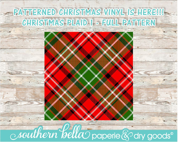 4939fa4eacbbd7 12x12 Christmas Plaid Patterned Vinyl Sheet HTV Outdoor or