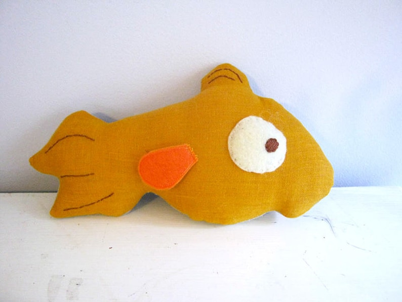 Cat and Fish Turnover Doll Pattern Printable image 0