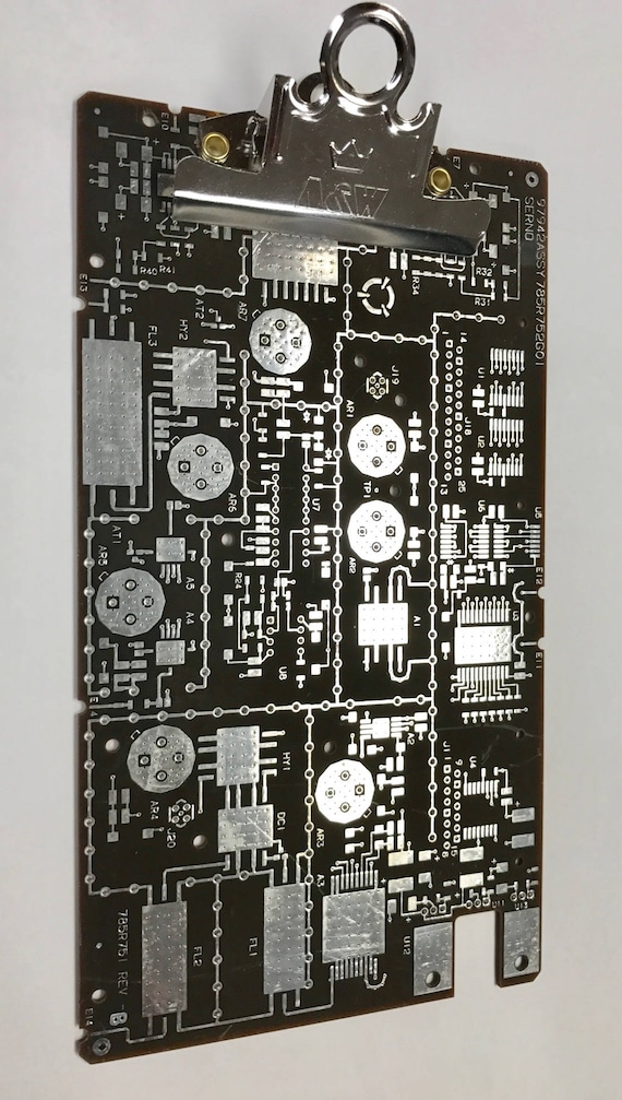 techie clipboard recycled circuit board geekery mc22b rh etsy com