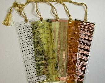 Recycled Vintage Circuit Board Geek Bookmark pkg 1