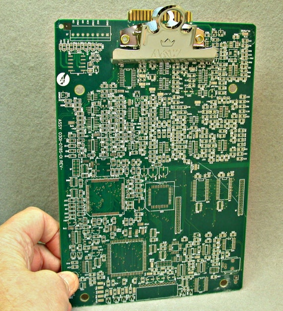 techie clipboard recycled circuit board geekery mc8 etsy rh etsy com