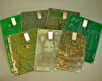 Recycled CIRCUIT BOARD CLIPBOARD Mini Magnetic pkg1