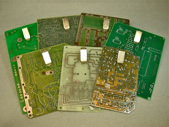 recycled circuit board clipboard mini magnetic pkg2 etsy rh etsy com