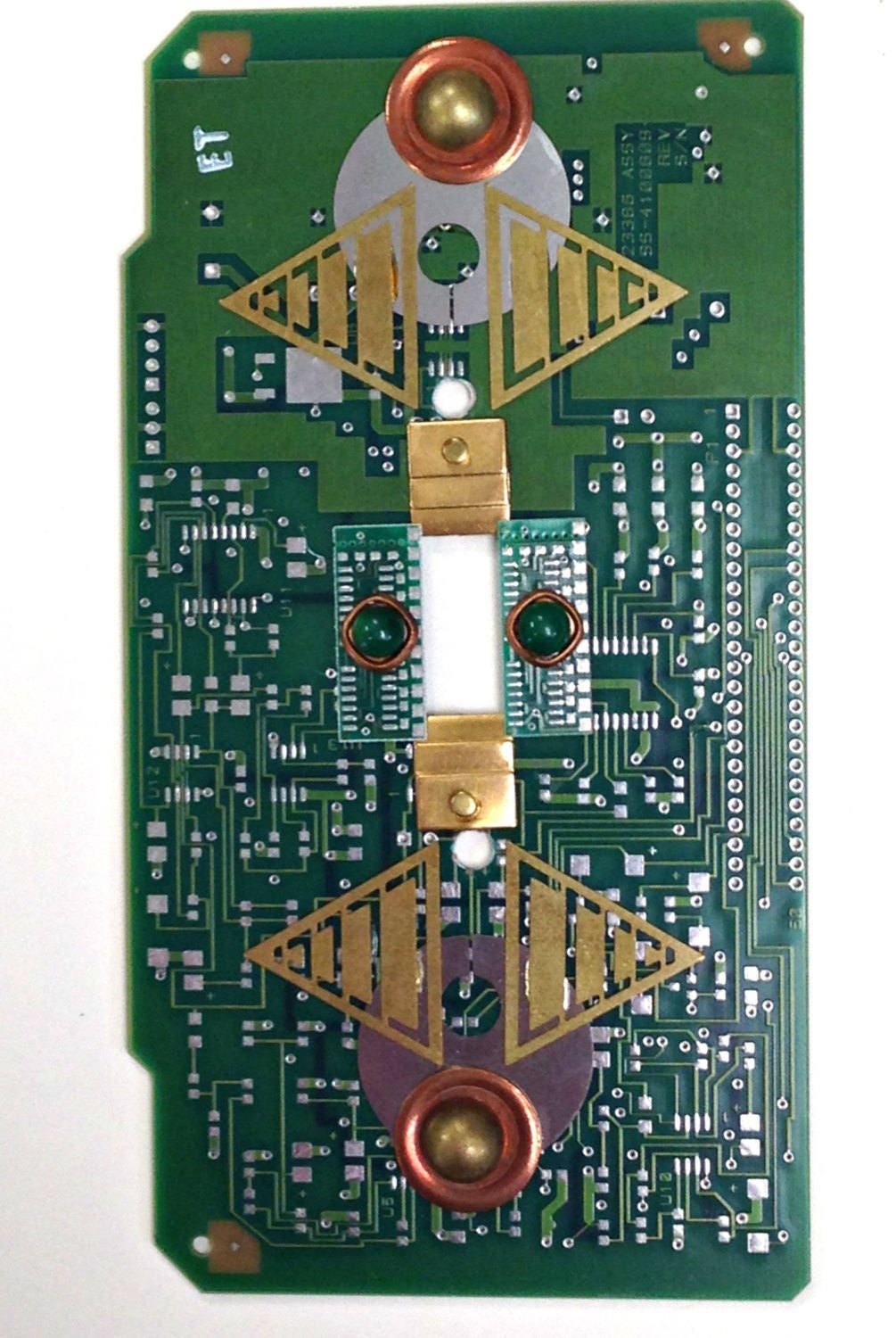 recycled circuit board light switch plate techie geekery wall etsy rh etsy com