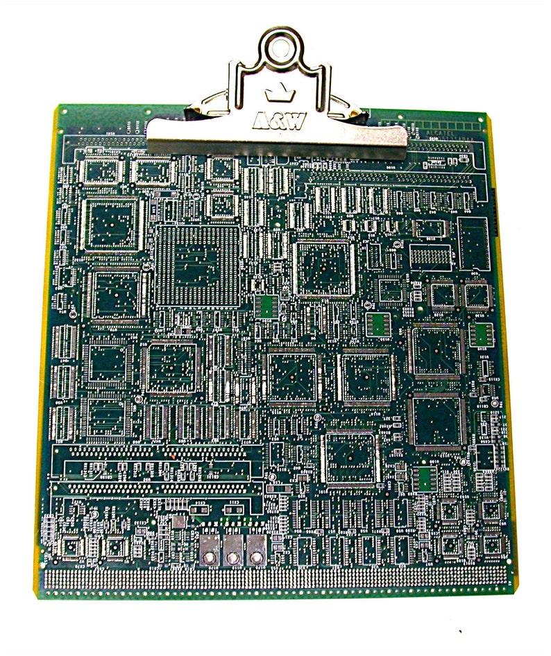 Recycled Vintage Circuit Board Minimagnetic Geek Clipboard ... on