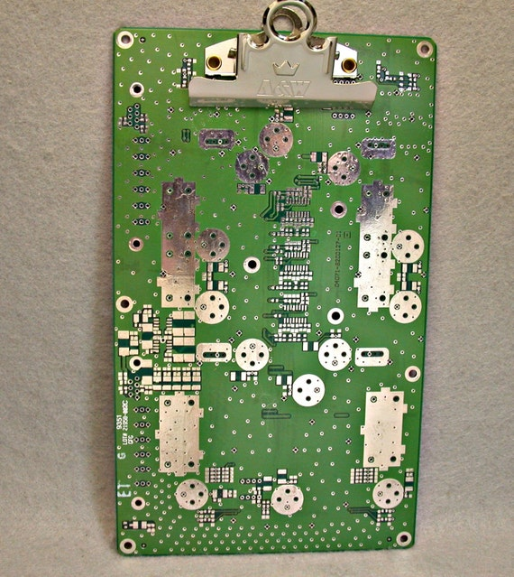 techie clipboard recycled circuit board geekery mc22 etsy rh etsy com