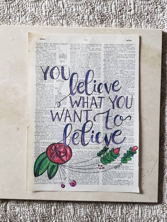 Tom Petty Quote Hand Lettered on Upcycled Vintage Dictionary Page 80s Rock  and Roll Music Art for Music Room