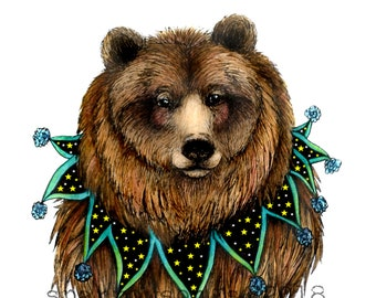 Glicee Print  Bear 5x7 or 8x10 with Mat