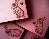 Love Bunny Note Card Set of 4 - Cupcake