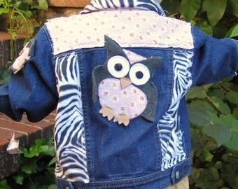 Shabby Sweet Owl Safari Jacket (kids size 18 months)