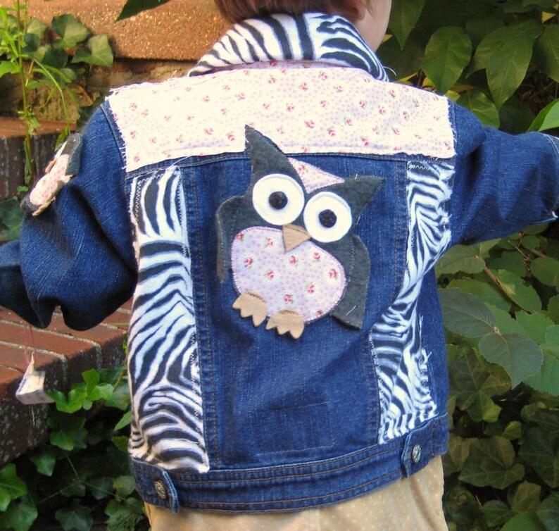 Shabby Sweet Owl Safari Jacket kids size 18 months image 0