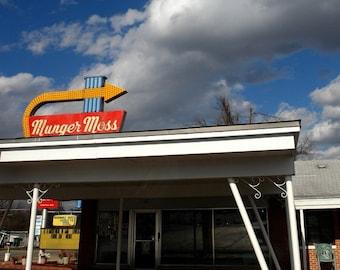 Munger Roof – Munger Moss Motel, Route 66, Lebanon, MO, photograph