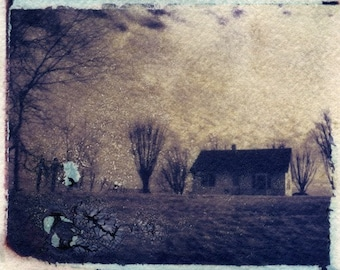 Bed of Cotton (Polaroid transfer photograph)
