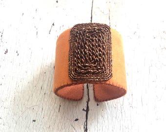 Terracotta Beaded Adjustable Cuff