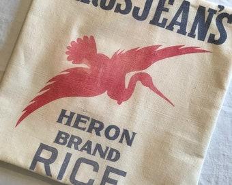 "15"" Authentic Grain Sack Pillow Cover"