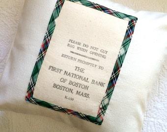 Grain Sack Pillow Sham - Boston Bank Bag