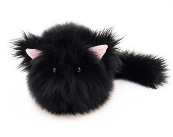 Black Cat Plush Etsy