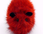 Valentine Red Faux Fur Guinea Pig Plushie Momma Size