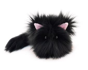 Black Cat Plush Etsy