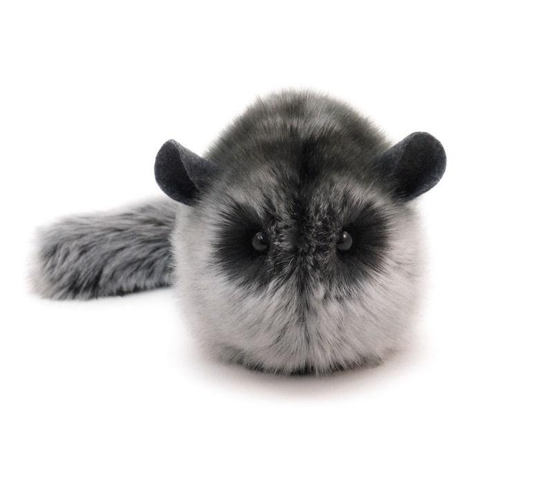 Stuffed Chinchilla Stuffed Animal Cute Plush Toy Chinchilla image 1