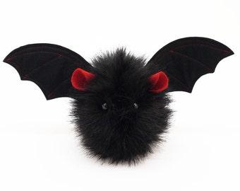 Stuffed Bat Stuffed Animal Cute Plush Toy Kawaii Plushie Vlad the Vampire Bat Snuggly Cuddly Faux Fur Bat Halloween Gift Small 4x5 Inches
