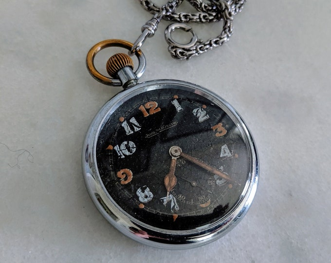 Jaeger Le Coultre WWII British Officers Military Pocket Watch