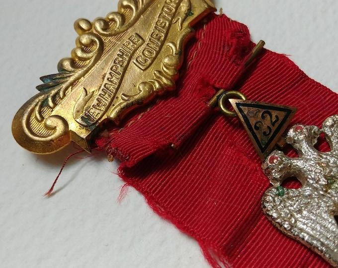 Masonic 32nd Degree Medal Freemasonry Jewel