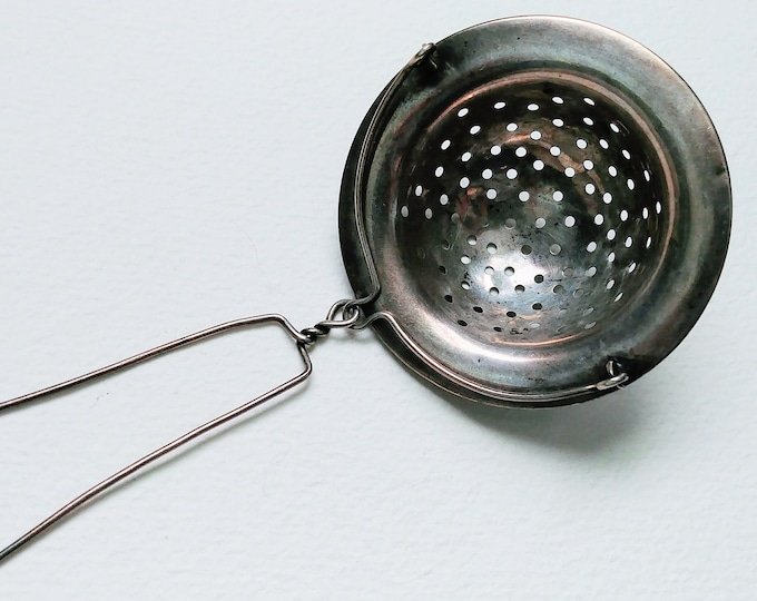 1800's Sterling Silver Tea Strainer By Shreve Crump And Low Co.