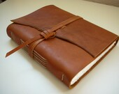 handmade leather journal\/photo album 10.25x8 inches