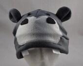 Grey Hippo Ears Cute Fleece Beanie Hat Cosplay Anime Skiing Snowboarding Gothic Rave Punk Winter Cute Aviator