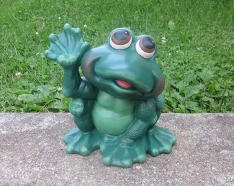 Ceramic Frog Statue Howdy Frog Yard Art Welcoming Frog Garden  Decoration Outdoor Decor Frog Home Decor Frog Figurine Handmade Frog