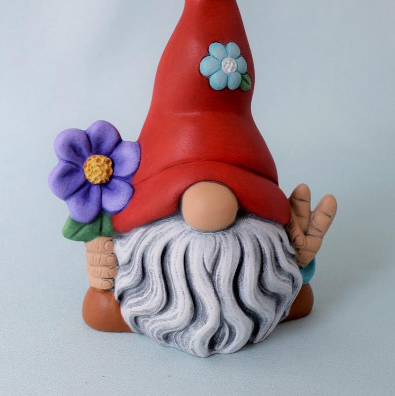 GARDEN GNOMES Craft Buttons 1ST CLASS POST Flower Plant Garden Baby DRESS IT UP