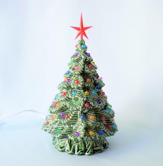 Ceramic Christmas Tree Lighted Xmas Tree Vintage Christmas Etsy