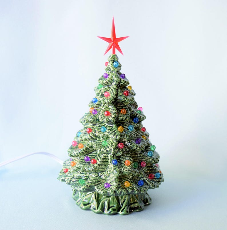 Ceramic Christmas Tree Vintage.Ceramic Christmas Tree Lighted Xmas Tree Vintage Christmas Decorations Ceramic Christmas Tree With Lights